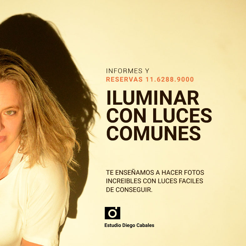 Iluminar con luces comunes en fotografia